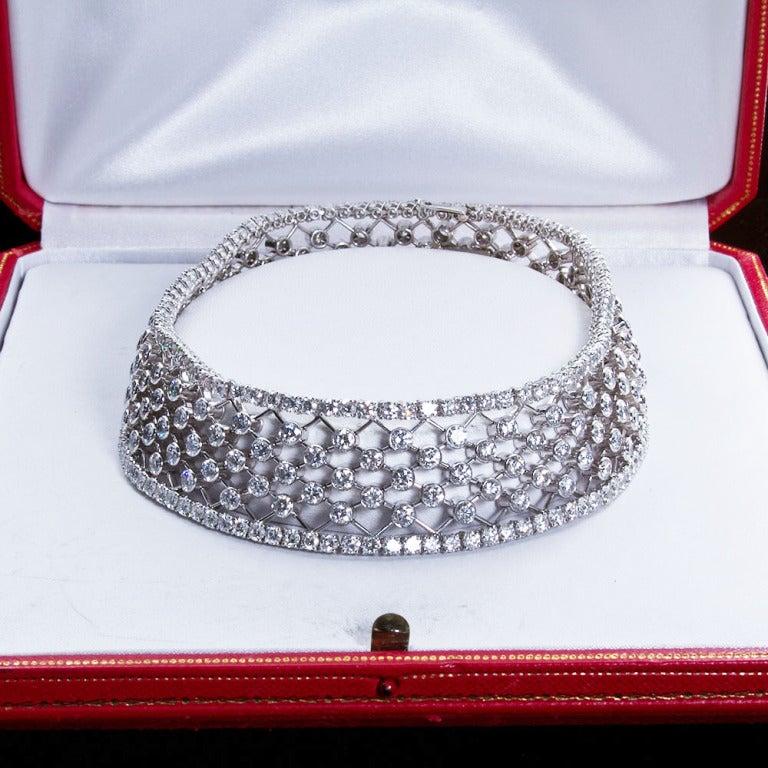 CARTIER Diamond Lattice Choker Necklace 2
