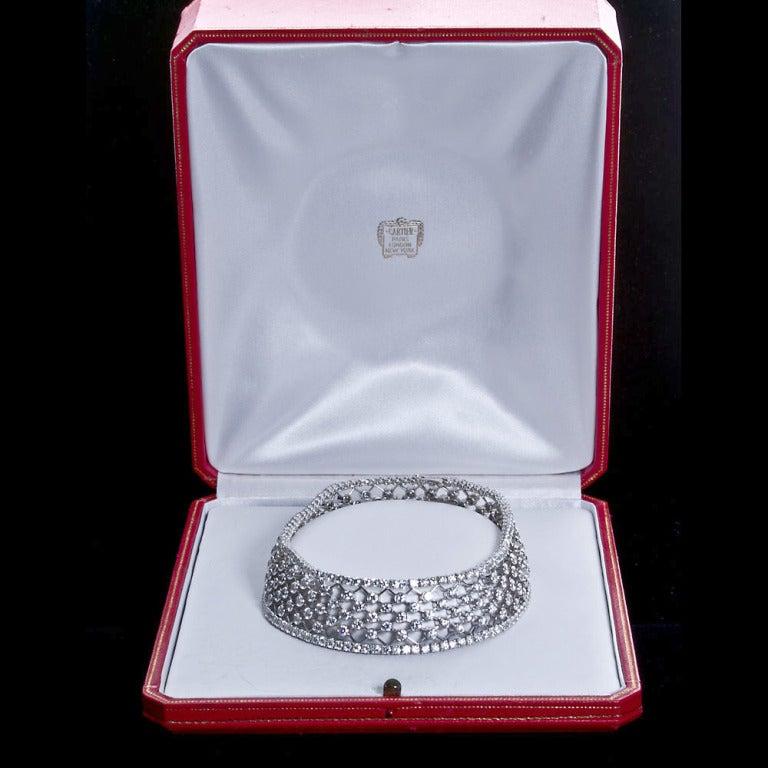 CARTIER Diamond Lattice Choker Necklace 3