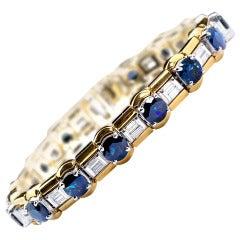 Sapphire Diamond Convertible Bracelet