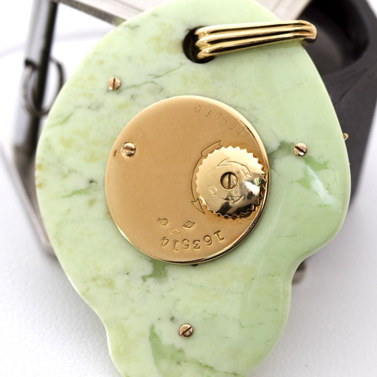 Cartier Paris Rare Art Deco Jade Pocket Watch Pendant by Edmond Jaeger In Excellent Condition For Sale In New York, NY