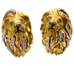 TIFFANY & Co. Gold Lion Cufflinks