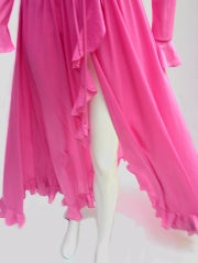70'S JOHN KLOSS HOT PINK RUFFLE SET thumbnail 2