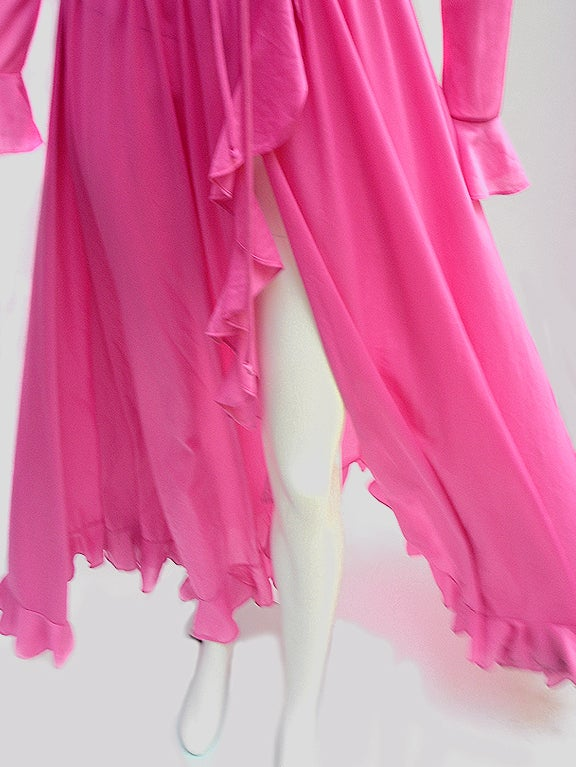 70'S JOHN KLOSS HOT PINK RUFFLE SET image 2