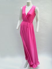 70'S JOHN KLOSS HOT PINK RUFFLE SET thumbnail 3