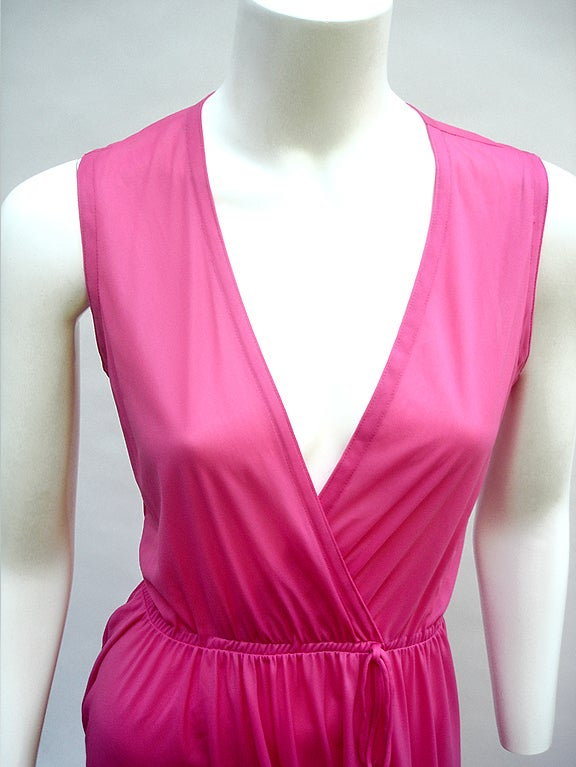 70'S JOHN KLOSS HOT PINK RUFFLE SET image 4