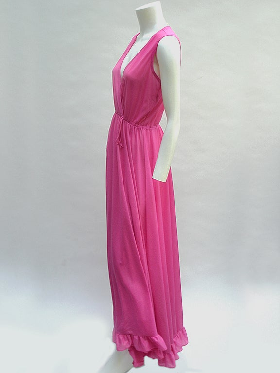 70'S JOHN KLOSS HOT PINK RUFFLE SET image 5