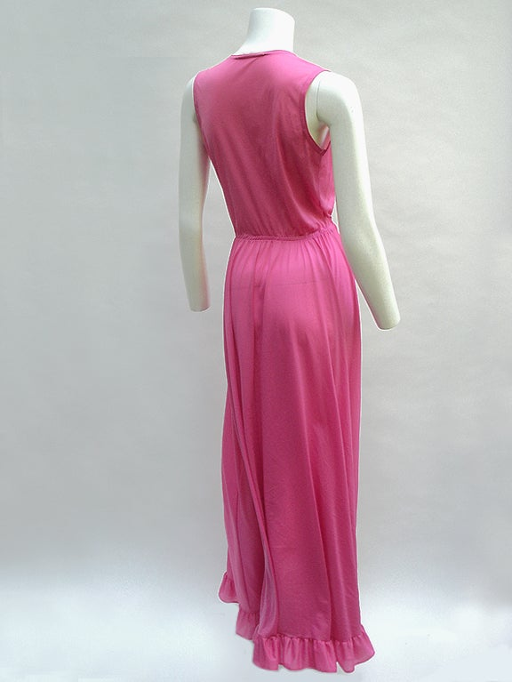 70'S JOHN KLOSS HOT PINK RUFFLE SET image 6