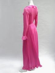 70'S JOHN KLOSS HOT PINK RUFFLE SET thumbnail 7
