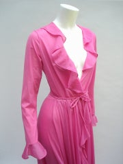 70'S JOHN KLOSS HOT PINK RUFFLE SET thumbnail 9