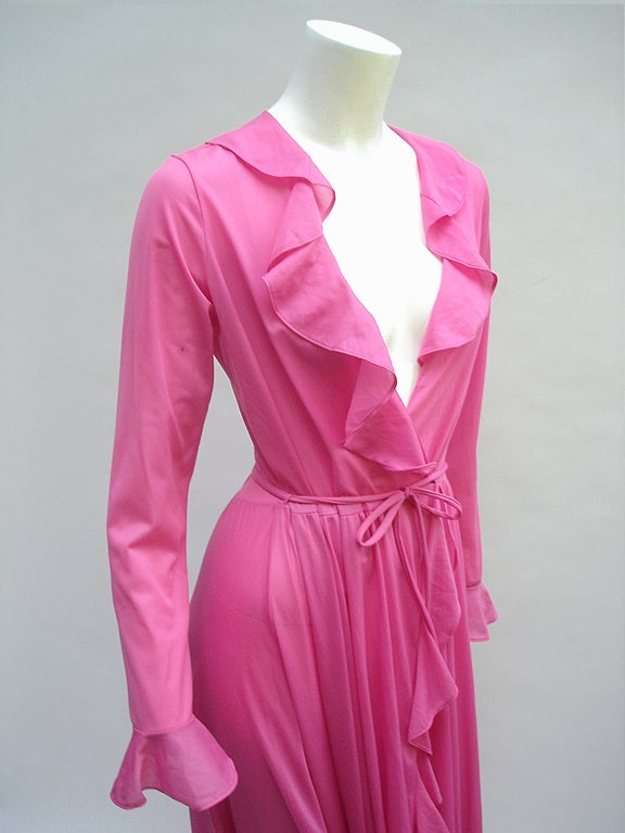 70'S JOHN KLOSS HOT PINK RUFFLE SET image 9