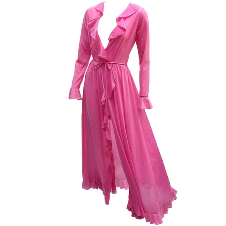 70'S JOHN KLOSS HOT PINK RUFFLE SET