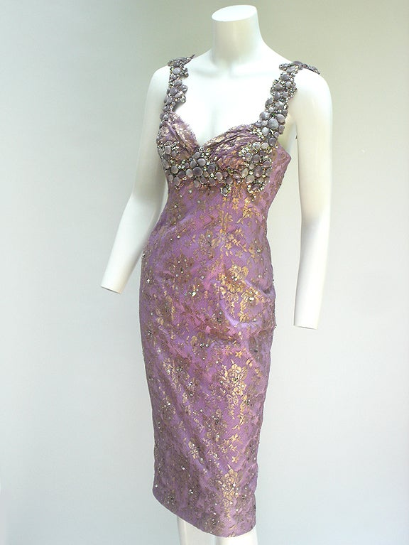 MANDALAY STONE AND LACE COCKTAIL DRESSS image 3