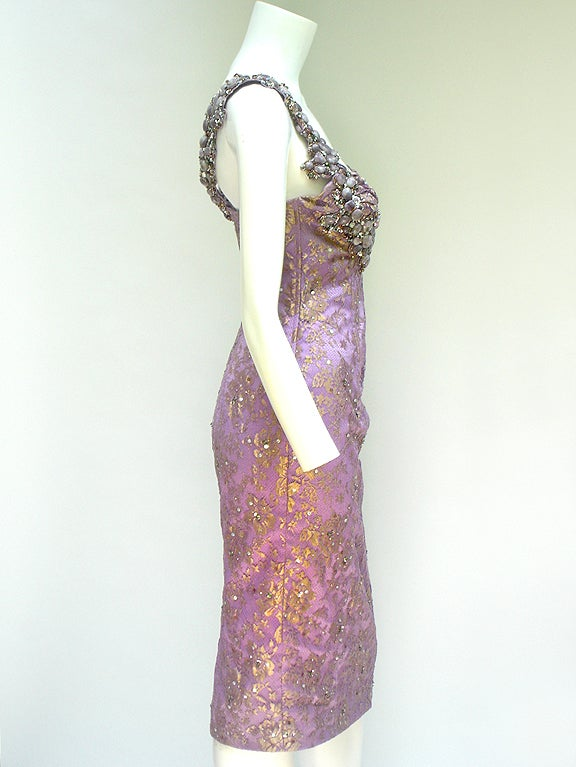 MANDALAY STONE AND LACE COCKTAIL DRESSS image 7