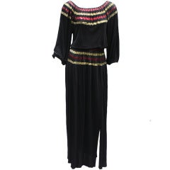 70S ROLAND KLEIN GYPSY DRESS