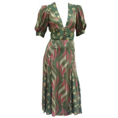 70S JEFF BANKS MOSS DRESS