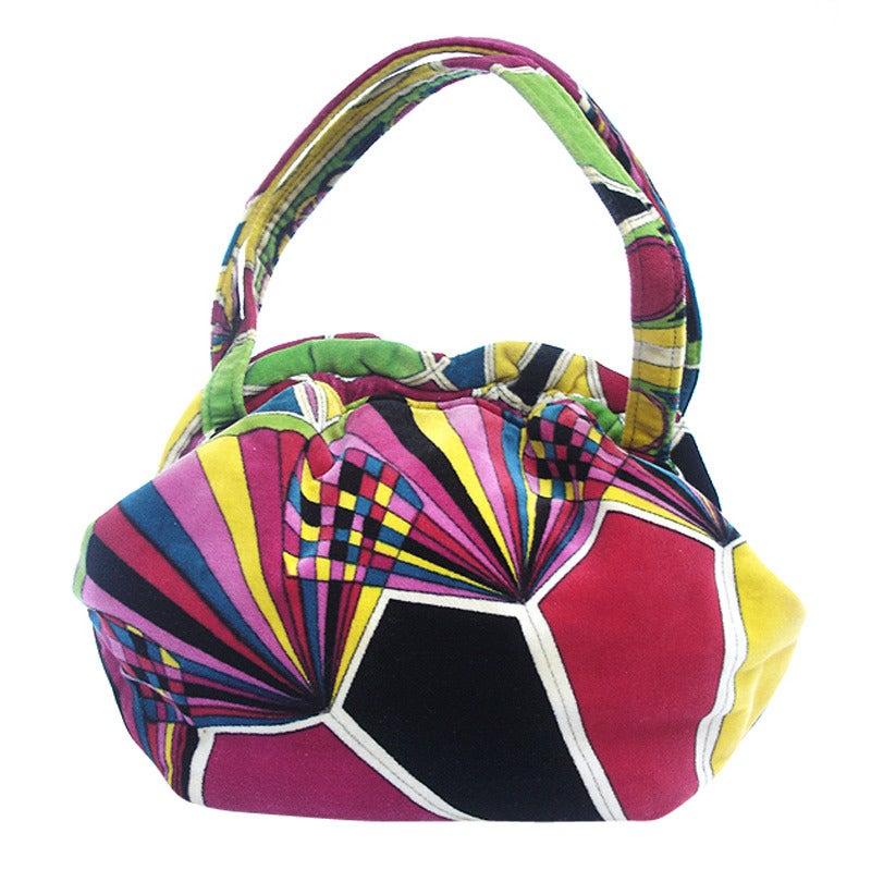 1960s Emilio Pucci Velvet Handbag At 1stdibs