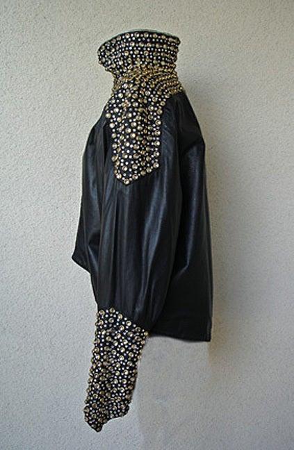 Fernando Sanchez 80's Crystal Grommet Bomber Jacket As Seen in Vogue 1