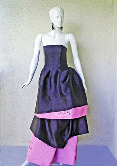 Circa 2000 Christian Lacroix Runway 2-in-1 Detachable Pouf Dress Gown - Unworn 3