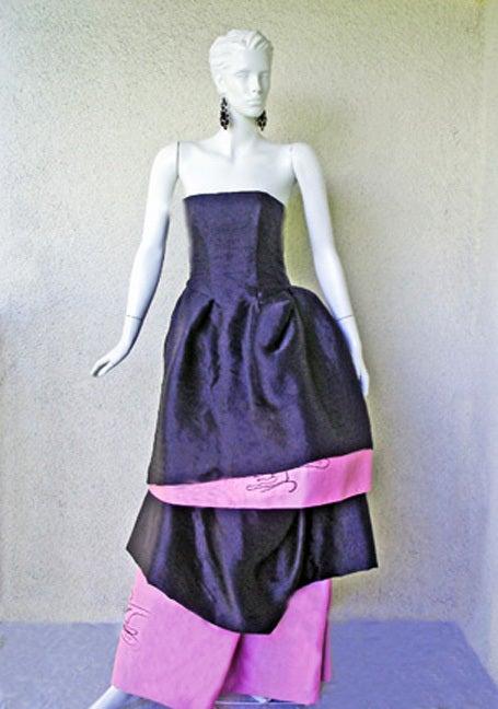 Circa 2000 Christian Lacroix Runway 2-in-1 Detachable Pouf Dress Gown - Unworn 5
