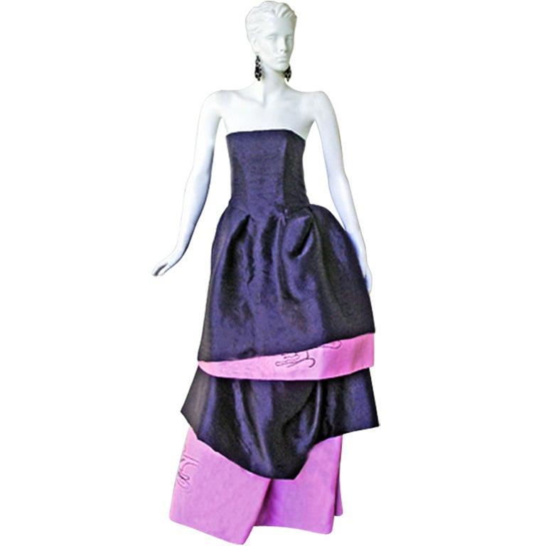 Circa 2000 Christian Lacroix Runway 2-in-1 Detachable Pouf Dress Gown - Unworn 2