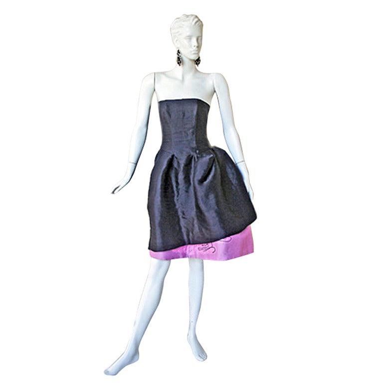 Circa 2000 Christian Lacroix Runway 2-in-1 Detachable Pouf Dress Gown - Unworn 1