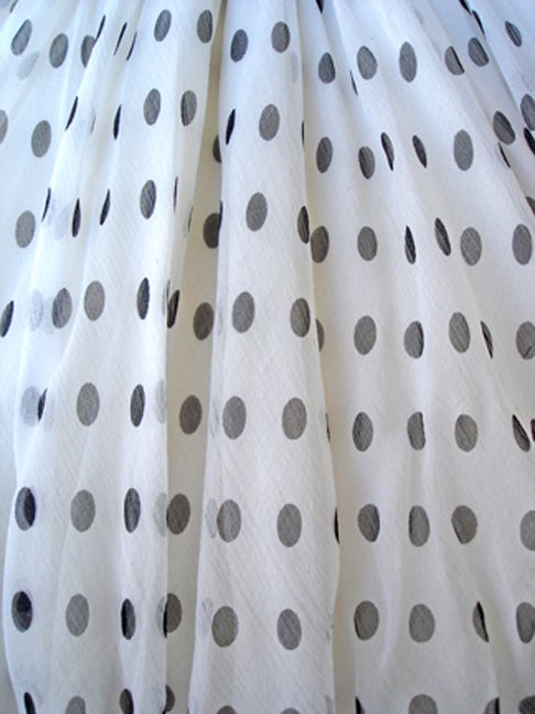 Divine Jacqueline de Ribes Parisian Polkadot Silk Evening Dress For Sale 3