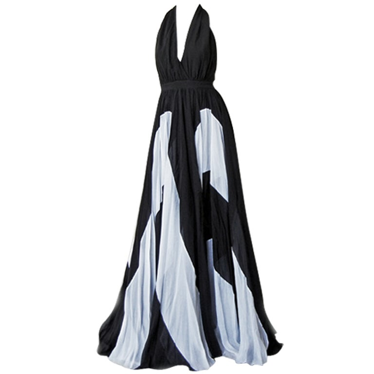 Naomi's Issa Over-the-top Halter Gown For Sale