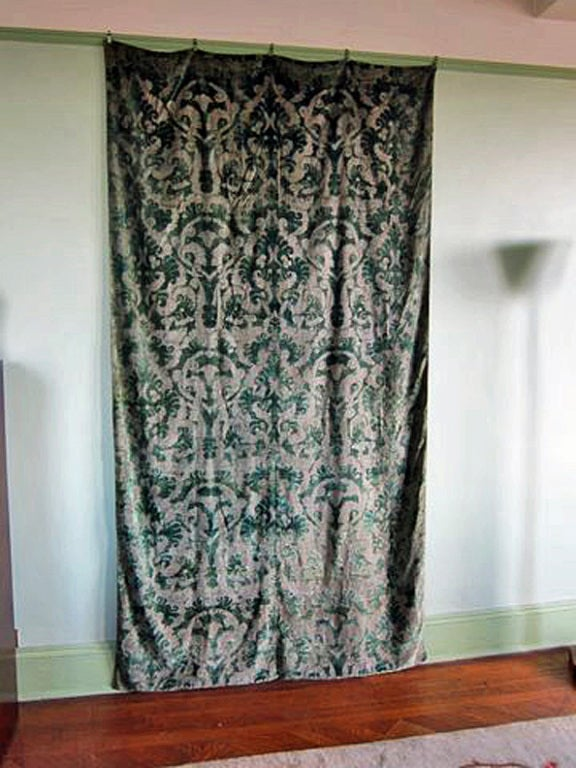 Fortuny Large Art Deco Velvet Wall Hanging W Provenance