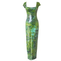 Stephen Sprouse 1998 oxidized beaded dress in book