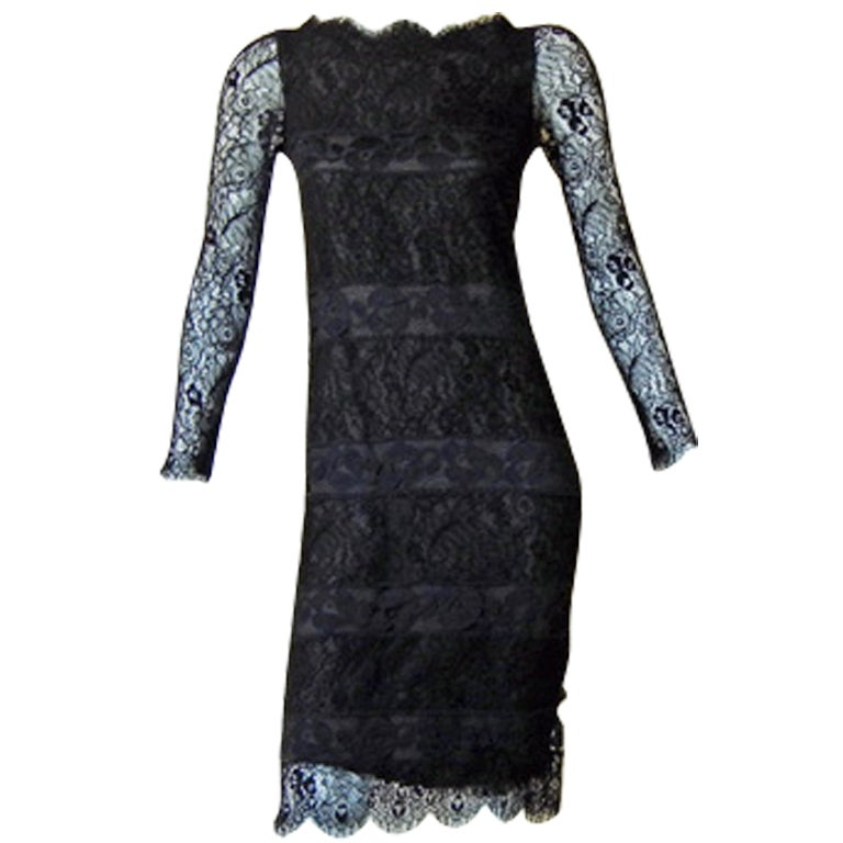 Authentic chanel haute couture black chantilly lace for Chanel haute couture price range