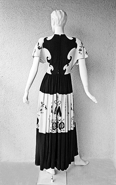 ADRIAN PENNSYLVANIA  DUTCH AMERICANA SILK PRINT DRESS image 6
