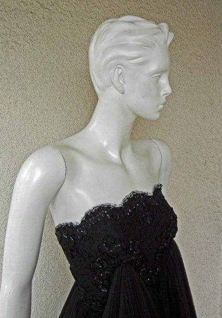 Early Christian Lacroix Haute Couture Lace Tulle Evening Dress 2