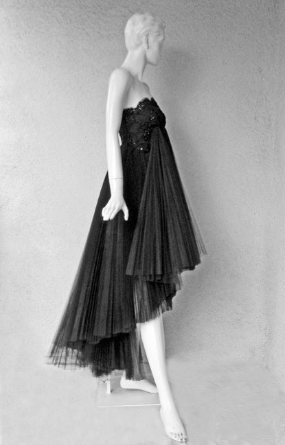 Early Christian Lacroix Haute Couture Lace Tulle Evening Dress 3