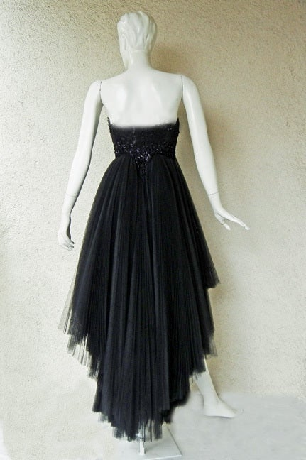 Early Christian Lacroix Haute Couture Lace Tulle Evening Dress 6