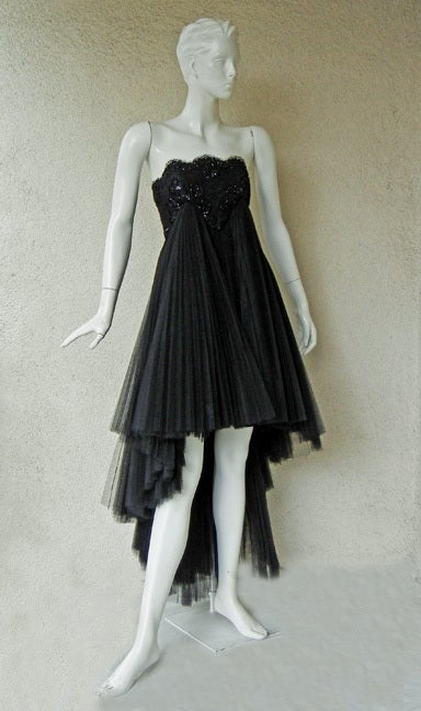 Early Christian Lacroix Haute Couture Lace Tulle Evening Dress 4