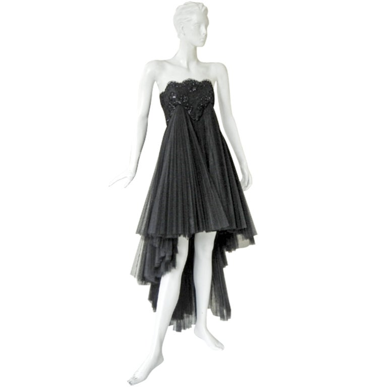 Early Christian Lacroix Haute Couture Lace Tulle Evening Dress 1