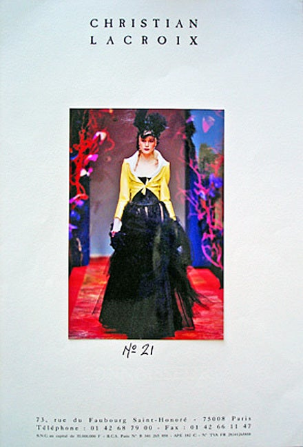 1999 Christian Lacroix Haute Couture  Runway Ensemble - Collectors 3