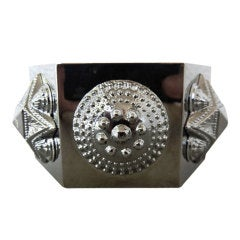 Burberry Prorsum Warrior Oversized Hexagon Cuff Bracelet