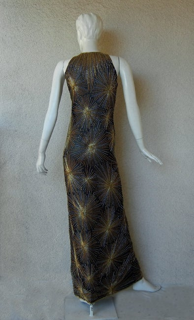 Published Halston Fireworks Evening Gown & Matching Jacket For Sale 1