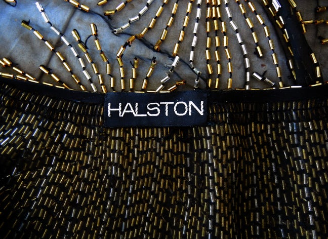Published Halston Fireworks Evening Gown & Matching Jacket For Sale 3