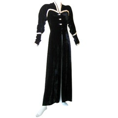 RARE JACQUES HEIM HAUTE COUTURE NUMBERED 1930'S EVENING COAT