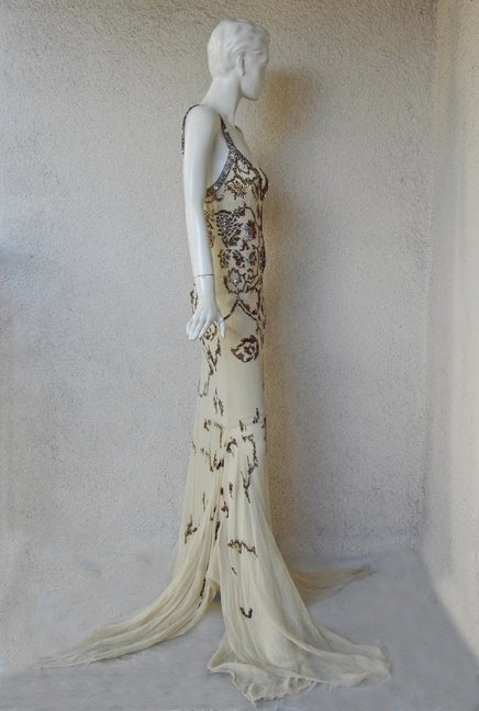 Roberto Cavalli Glamour Girl Beaded Jeweled Oscar Worthy Gown For Sale 2