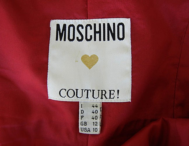 Women's Franco Moschino Couture 80's  Silk Tie Dress For Sale