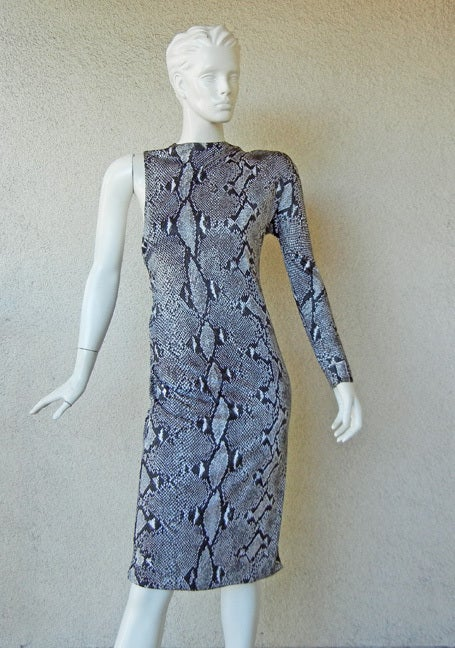 Gucci by Tom Ford High Style One Arm Bandit Python Print Dress In New Never_worn Condition For Sale In Los Angeles, CA