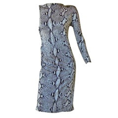 Gucci by Tom Ford High Style One Arm Bandit Python Print Dress  New Cond!