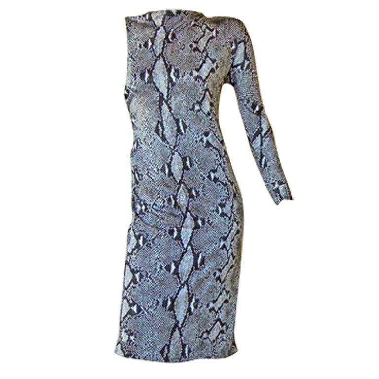 Gucci by Tom Ford High Style One Arm Bandit Python Print Dress For Sale