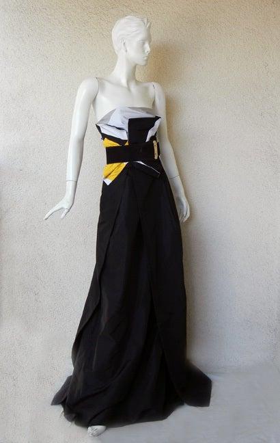 Featured in Vogue Gucci Origami Gown w/Horsebit Belt   2