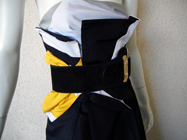 Featured in Vogue Gucci Origami Gown w/Horsebit Belt   3