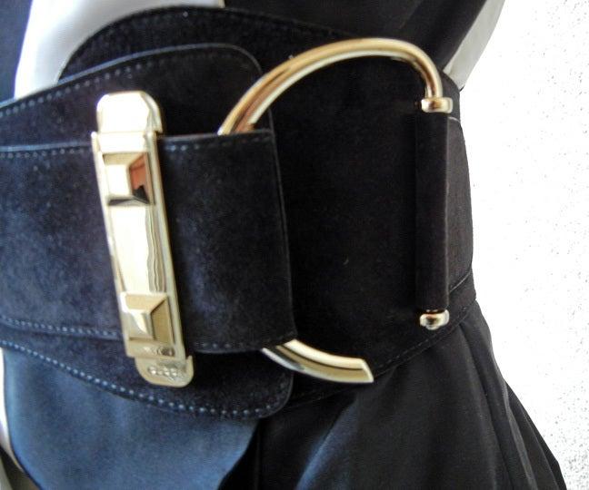 Featured in Vogue Gucci Origami Gown w/Horsebit Belt   4