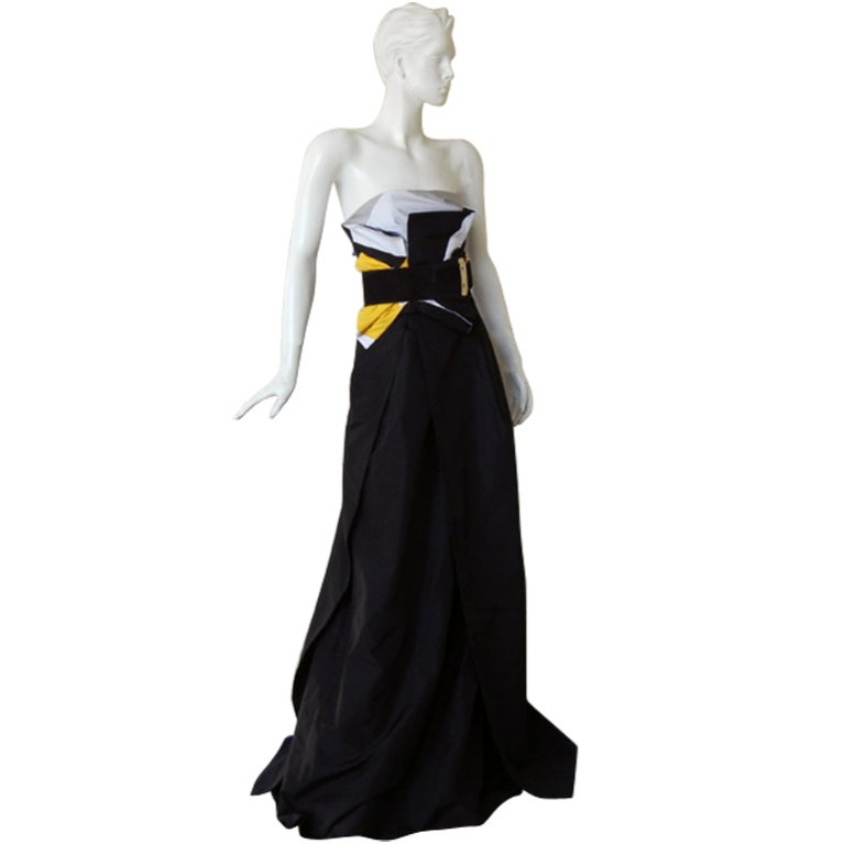 Featured in Vogue Gucci Origami Gown w/Horsebit Belt   1